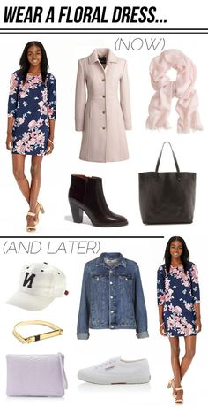 floral dress… wear it now and later! (via Bloglovin.com )
