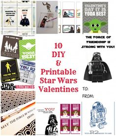 10 DIY & Printable Star Wars Valentines - Clever Pink Pirate » Clever Pink Pirate