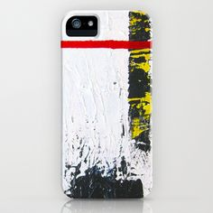 Abstract/De Stijl inspired  strokes iPhone Case by HMSinTO - $35.00