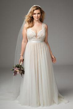 hot-vente dernier prix modéré le magasin robe de mariée femme ronde