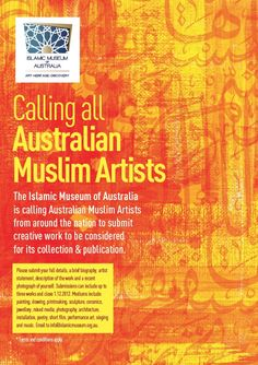 Australian Islamic Museum call out to Muslim artists.