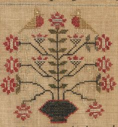 """Brunk Auctions - 1826 """"Babes in the Wood"""" needlework,"""