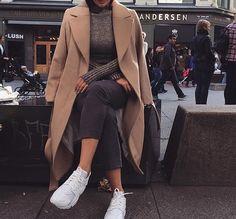 Fashion Pure color wool coat L576148