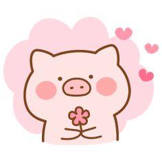 Cute Cartoon Drawings, Cute Kawaii Drawings, Easy Drawings, Kawaii Doodles, Cute Doodles, Kawaii Pig, Pig Wallpaper, Pig Drawing, Chibi Cat