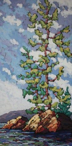 Jennifer Woodburn - Summer Season Acrylic on Canvas 48x24 inches