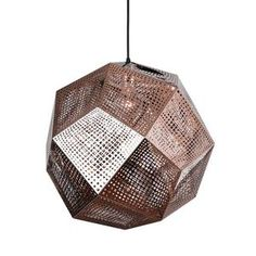 Honeycomb Pendant in Copper - For Track Lights - Bedroom - 4 Hanging tracklights. Industrial Ceiling Lights, Home Trends, Mid Century Modern Design, Copper Color, Dot And Bo, Cool Lighting, Pendant Lighting, Room Lights, Light And Shadow