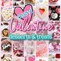 The BEST Easy Valentine's Day Pink and Red Desserts and Heart Shaped Holiday Party Treats Recipes via Dreaming in DIY #valentinesdaydesserts #easyvalentinesdaydesserts #valentinesdaytreats #pinkandred #pinkdesserts #reddesserts #valentinesdayparty #valentinesday #heartshapedtreats #hearts #love