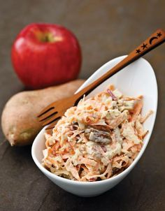 """CLICK PIC  2x for Recipe....  ...Sweet Potato Slaw... ...Recipe by George Stella... ...For tons more Low Carb recipes visit us at """"Low Carbing Among Friends"""" on Facebook"""