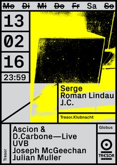 clueo // graphic - doworkdesign:   Tresor Club, Berlin by Vanja...