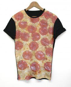 Pizza Black Back Tshirt