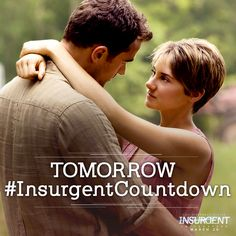 Together.. Four & Tris are unstoppable. TOMORROW 8pm, be the first to see #Insurgent! insur.gent/tix