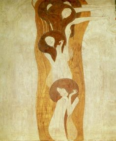 The Longing for Happiness Finds Repose in Poetry, 1902 Gustav Klimt