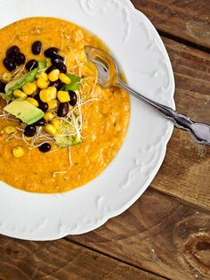 Sweet Potato Corn Chowder...try this one, it looks pretty close to the Best Soup You've Ever Eaten (been searching for the recipe for 19 years now!)