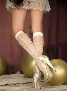 Knee high #Lace Socks