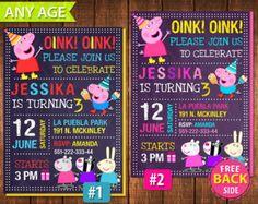 Peppa Pig Invitation Peppa Pig Birthday Peppa by MrGeniusInvites