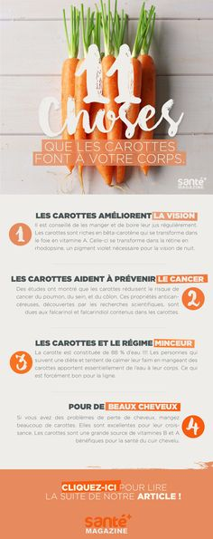 © Santé + Magazine - Carottes, Bienfaits, Santé, Nutrition, Bien-être, Vision, Cancer, Minceur, Beauté