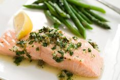 Day 1: Poached Salmon with Herb and Caper Vinaigrette