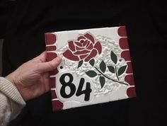 Handmade (18×16cm) Wooden Keepsake Box, Keepsake Boxes, Art Craft Store, Craft Stores, Mosaic Flowers, Mosaic Crafts, House Numbers, Wedding Gifts, Arts And Crafts