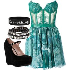 A fashion look from September 2014 featuring green dress, flat shoes and snap jewelry. Browse and shop related looks. Outfit Combinations, Green Dress, Fashion Looks, Shoe Bag, Jade, Polyvore, Stuff To Buy, Dreams, Outfits