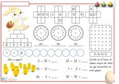 Desde hace algún tiempo vengo compartiéndoos los modelos que voy preparando, semanalmente, para trabajar y reforzar la numeración y el cálculo inicial suma y resta. School Frame, Maila, Math For Kids, First Grade, Teaching Kids, Homeschool, Classroom, Shapes, Crafts