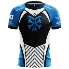 Custom Colorado Frost Pro Team Jersey - Electronic Gamers' League - The Official eSports Apparel and the Makers of The World's Most Versatile Gaming Backpack E Sport, Sport T Shirt, Polo Shirt, Sports Jersey Design, Shirt Template, Cycling Jerseys, Call Of Duty, Tee Design, Custom Clothes