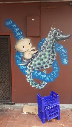 Baby on seahorse