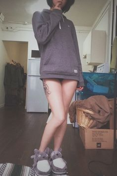 sweet girl with hip tattoo