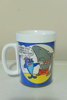 Starkist Charlie Tuna Coffee Mug Hollywood Star Poetry Plastic Fish 1970s Unused in Collectibles | eBay