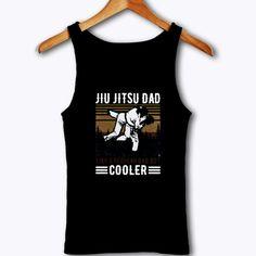 Jiu Jitsu Dad Like A Regular Dad But Cooler Happy Tank Top Cheap Streetwear, Pink Brand, Sarcastic Humor, Jiu Jitsu, Black Tank Tops, Street Wear, Dads, Unisex, Happy