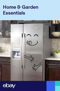 Cute Fridge Sticker Happy Delicious Face Kitchen Refrigerator Decal Art