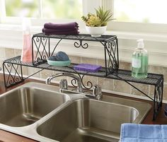 Diamond Scroll Over The Sink Shelf