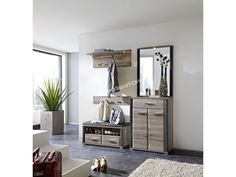 Elegantná predsieňová zostava FLAME 2 vyrobená v nadčasovej farebnej kombinácií… Tall Cabinet Storage, Entryway, Furniture, Home Decor, Homemade Home Decor, Entrance, Main Door, Home Furnishings, Doorway