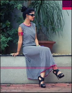 Houndstooth casual friday dress