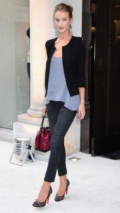 Look et style : Rosie Huntington-Whiteley - Style chic pour la Fashion's Night Out - Mon LookBook