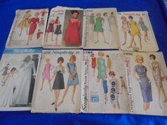 All Sz 14 U Pick SEWING PATTERNS DRESSES Vintage by AngieFoundit4U