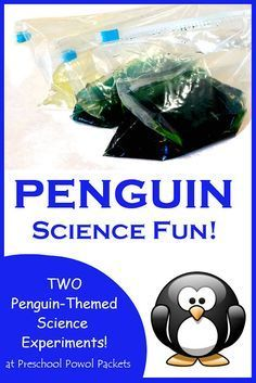 The perfect penguin science experiment! - - The perfect penguin science experiment! Science Experiments For Preschoolers, Animal Science, Kindergarten Science, Teaching Science, Science For Kids, Science Activities, Science Projects, Winter Activities, Science Fun