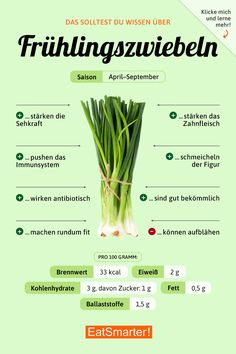 Frühlingszwiebeln (Lauchzwiebeln) You should know that about spring onions! Healthy Diet Tips, Healthy Nutrition, Diet And Nutrition, Complete Nutrition, Nutrition Store, Holistic Nutrition, Proper Nutrition, Nutrition Guide, Healthy Meals