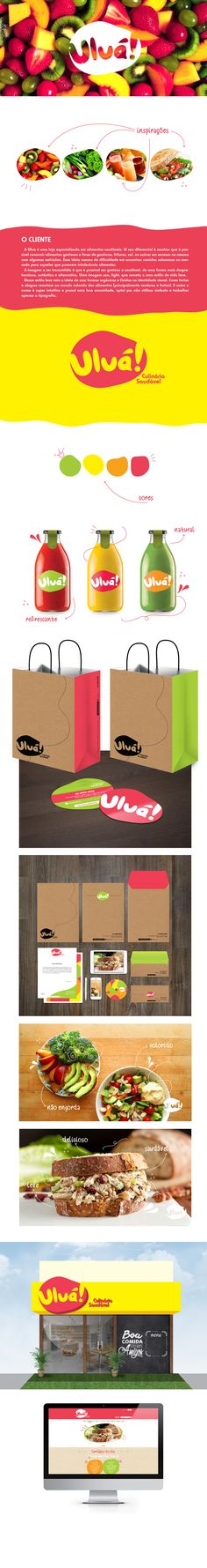 4. Um projeto da Agência Mosca para a Uluá, uma loja especializada em alimentos saudáveis. Uma identidade visual bem leve e com uma cara divertida e autêntica! #IdentidadeVisual #Logo #Propaganda #Branding #Creative #TudoMarketing #TudoMkt