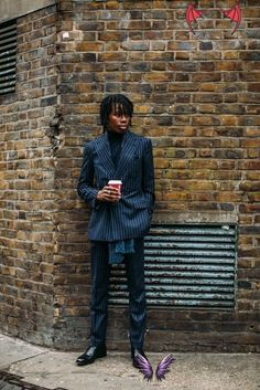 London Fashion Week Men's FW19<br> Nyfw Street Style, Cool Street Fashion, Street Style Women, London Fashion Week Mens, New York Fashion, Paris Fashion, Men Fashion, Mens Fall, Style Snaps