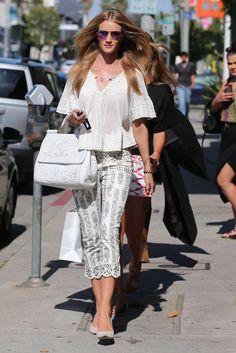 Rosie Huntington-Whiteley #streetstyle