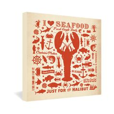 Anderson Design Group Lobster Pattern Gallery Wrapped Canvas