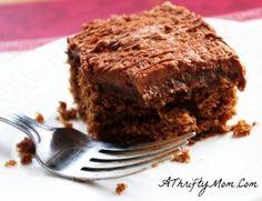 Chocolate Banana Ginger Cake, Money Saving Recipe, Homemade Cake Recipe
