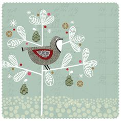 Bird in a tree by Hillberry Design
