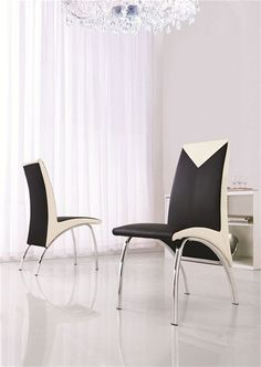 Are you trying to give your home a modern makeover? Start by purchasing 614 Chair In Black, Cream, Black & Cream or Black & Red. This elegant and beautiful dining chair can be purchased separately to accompany any dining table from our extensive range. The material used is of high quality.