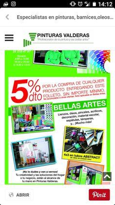 Es el momento de pintar más barato. Ven a ver la tienda y tendrás un 5%. Te esperamos!!!! Brochures, Canvases, Store