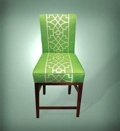 Custom green dining chair. We love to build custom furniture for our clients! Check out more at http://www.gaminoupholstery.com/custom/