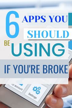 Discover 6 apps you should be using if you are broke. These apps will help you manage your money, make more money, and save money. Make Money Fast, Ways To Save Money, Money Saving Tips, Financial Apps, Managing Your Money, Frugal Tips, Money Management, Extra Money, Personal Finance