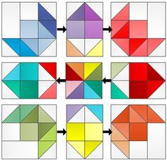 Modern Quilters Ireland: Rainbow Rose QAL Week 5: Assembling your quilt top!