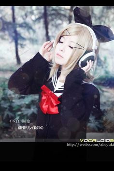 Kagamine Rin [Vocaloid] Cosplay ★♫♪]¦•¦ Haru Hellscythe ¦•¦[♪♫★