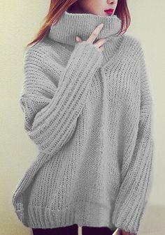 Light Grey Turtleneck Sweater